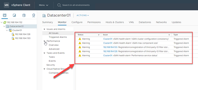 Monitor VCenter for new Alerts rule01